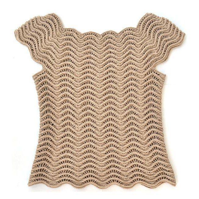 Estonian Waves Top Crochet pattern by Lena Fedotova | Crochet Patterns | LoveCrochet