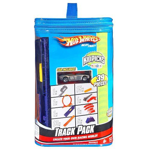 Amazon Com Hot Wheels Track Pack 39 Pieces Includes Reuseable