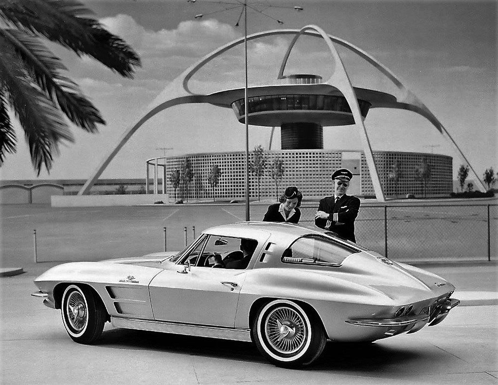 1963 poster drawing advertising a 63 split window corvette rh pinterest com