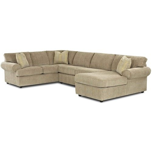 klaussner julington transitional sectional sofa with rolled arms and rh pinterest com