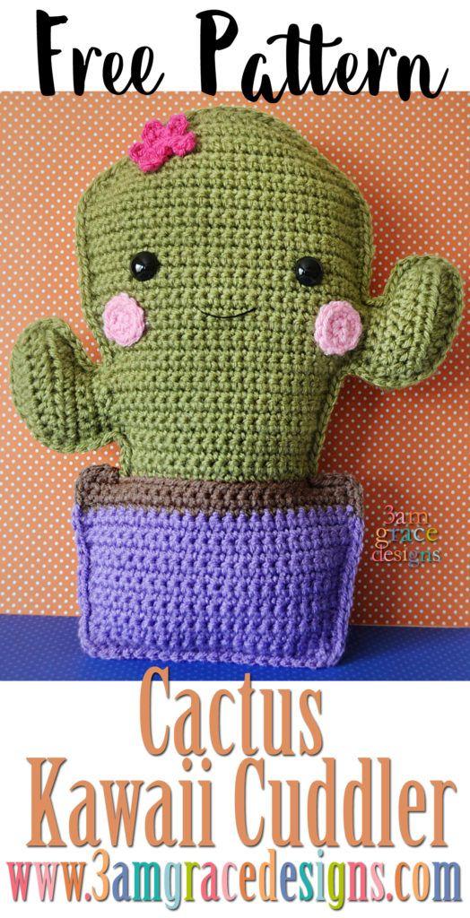Cactus Kawaii Cuddler   Patrones, Crochet patrones y Patrones amigurumi