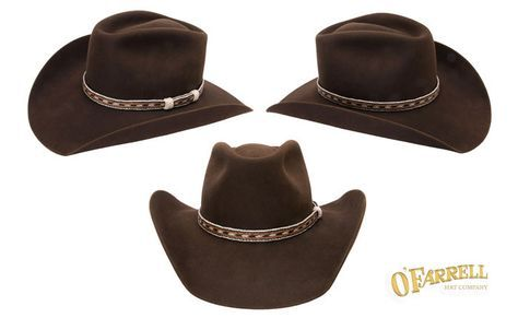 """Longmire hat O Farrell Hat Company - RCA  30  Classic western style with a  4 ¼"""" crease height and 4"""" brim Shown here in chocolate premium beaver felt  with a ... f706c902a4d"""