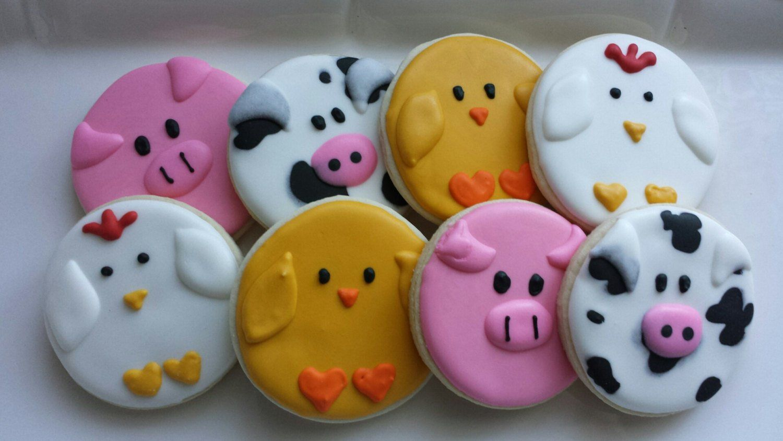 Barnyard sugar cookies farm farm themed barnyard animals