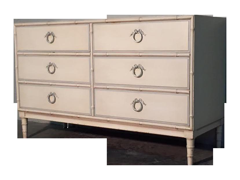 drexel bedroom set%0A Drexel Bambou MidCentury Modern  Drawer Dresser on Chairish com