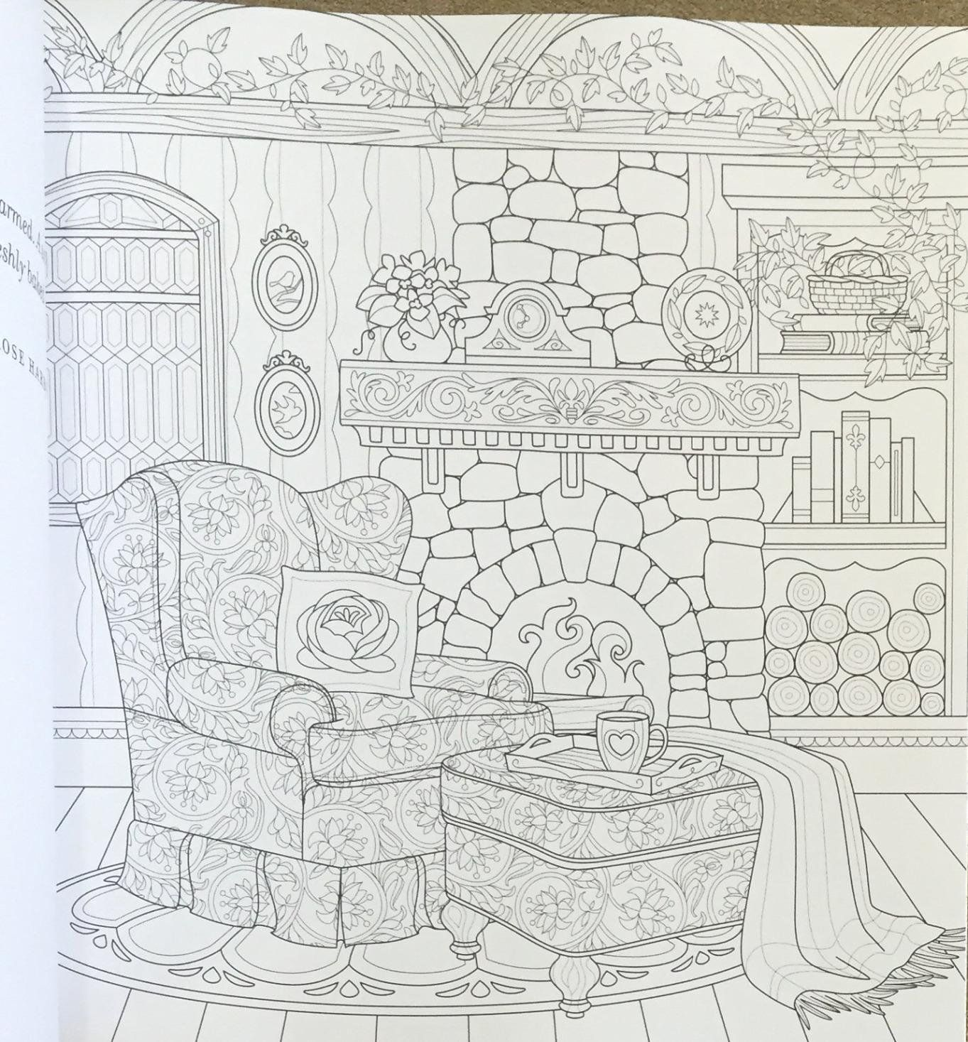 Coloring Pages House Living Room For Kids Fun Art Activities