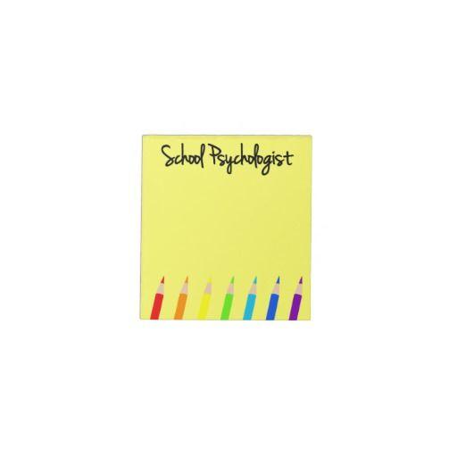 Colorful school psychologist notepad school - Interior design psychology degree ...