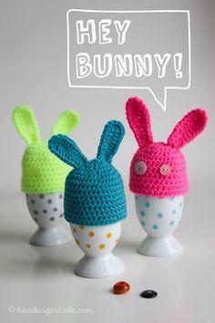 Mini Beanie Eierwärmer Nähanleitung Rose Crochet Easter Crochet