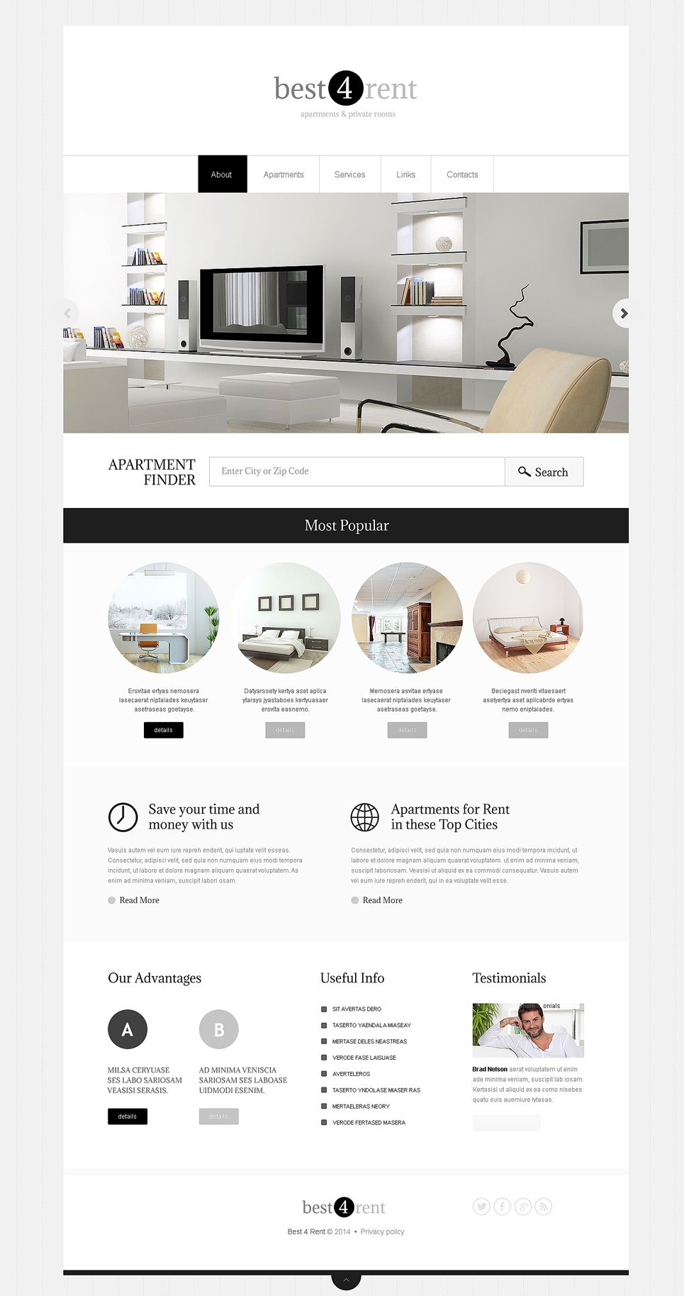 Real estate agency responsive website template portfoilo