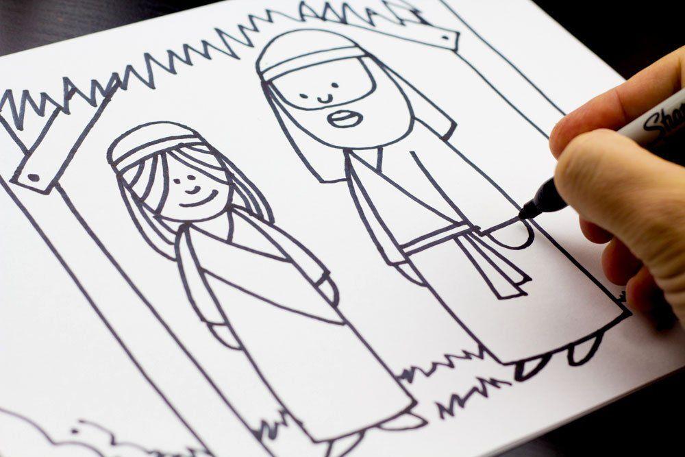 how to draw mary and joseph nativity art for kids hub rh pinterest com art hub how to draw a horse art hub how to draw a wolf