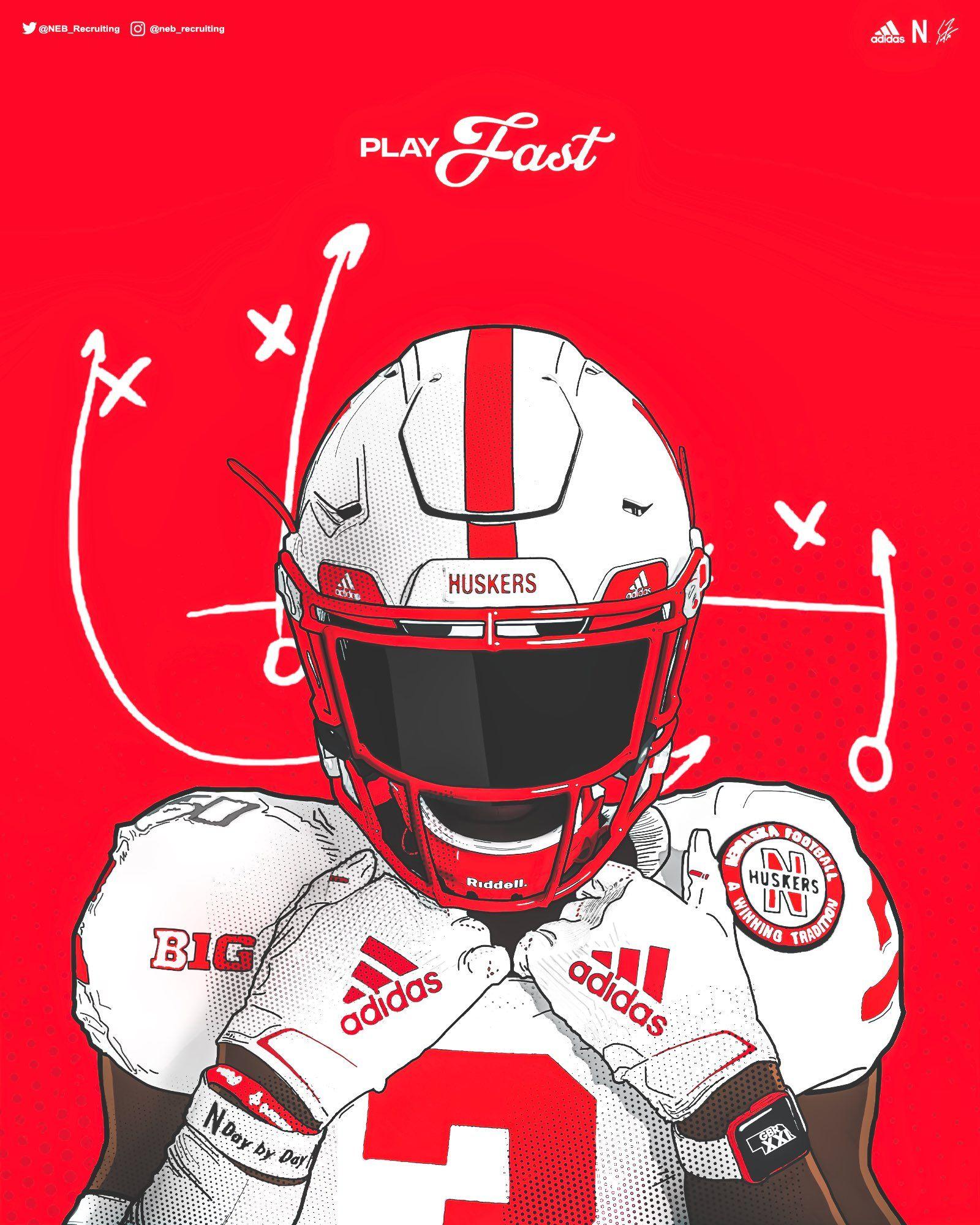 Nebraska In 2020 Nfl Football Art Football Illustration Nfl Football Wallpaper