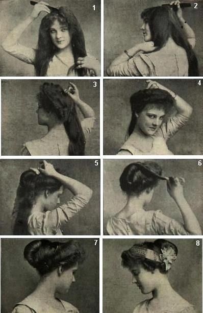 Astounding 1910 Instruction On How To Do A Psyche Knot Cool My Likes Hairstyles For Women Draintrainus