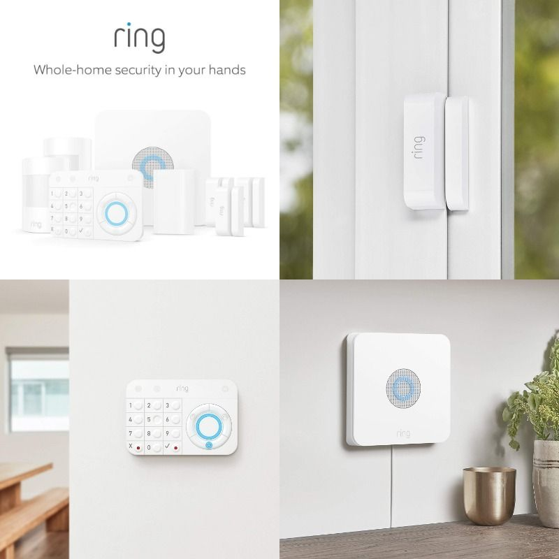 Ring Alarm 8 Piece Kit Home Security System With Optional 24 7 Professional Monitoring Home Security Systems Home Security Kit Home