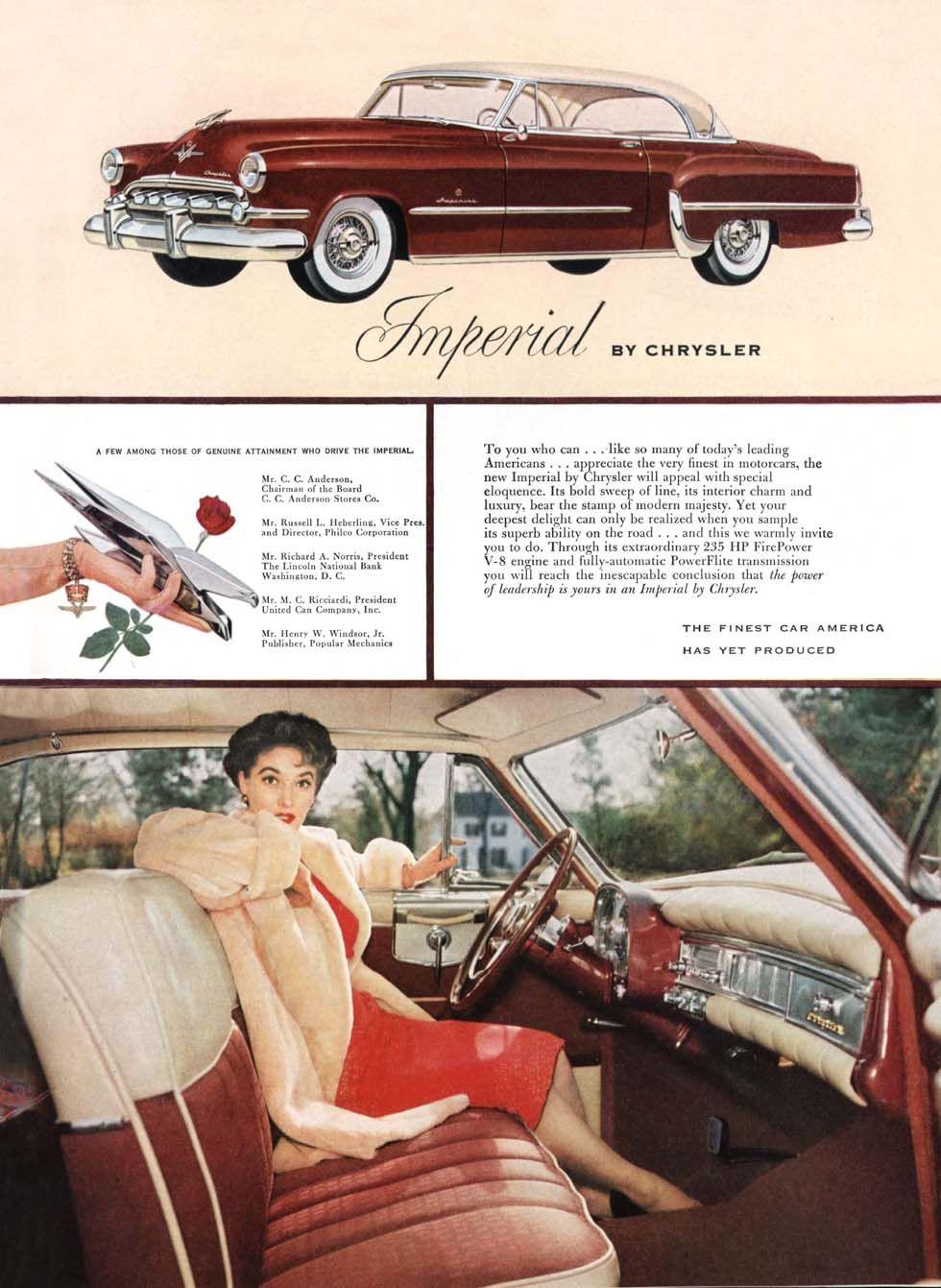 1954 chrysler imperial ad04 chrysler imperial vintage cars