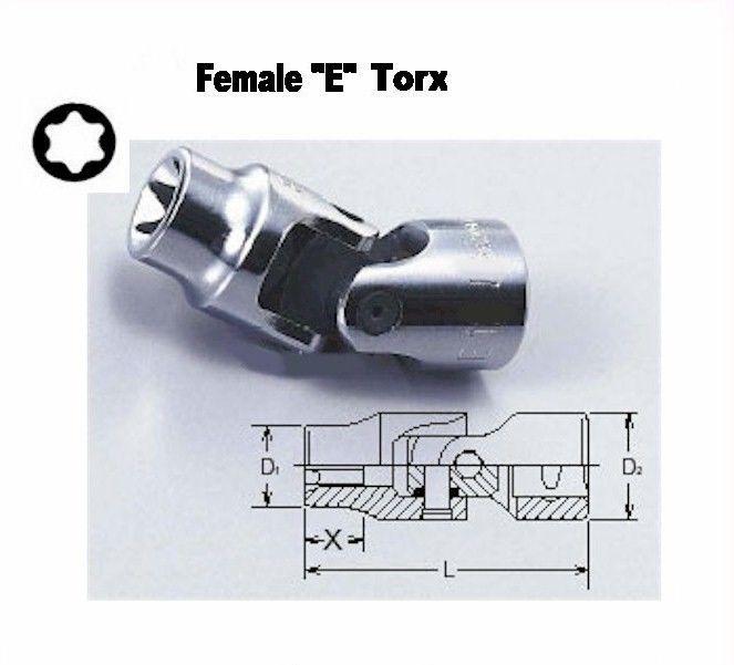 Rare Universal Joint E4 Female Torx Socket Tool (for external torx