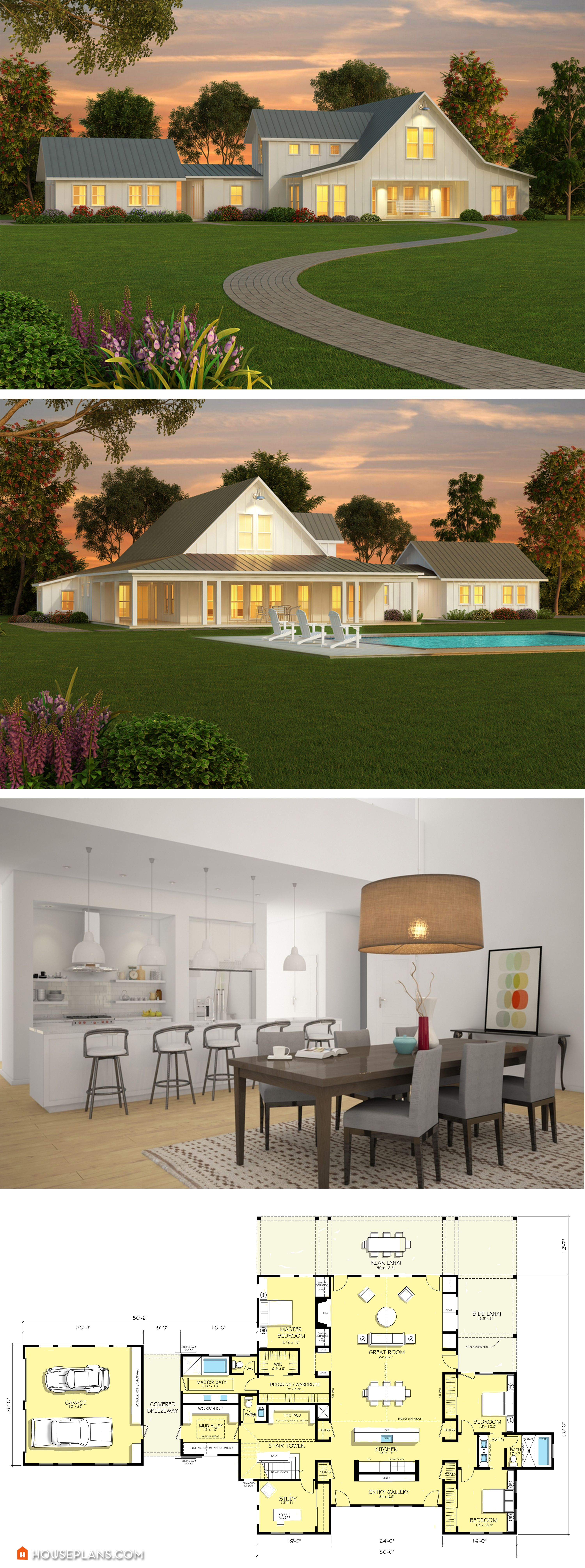 simple 3 bedroom house plans%0A Top     Metal Barndominium Floor Plans for Your Home    Farmhouse plans   Modern farmhouse and Modern