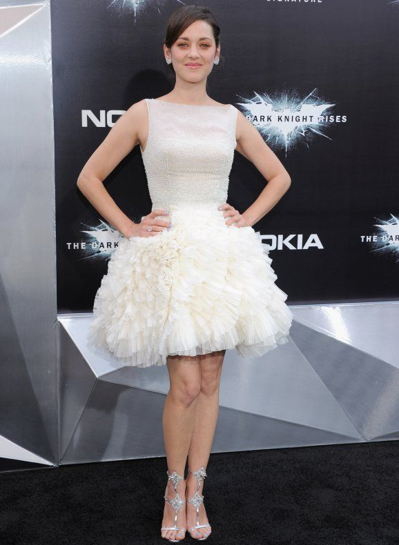 Marion Cotillard looking like a fairy at the Premiere of The Dark Knight Rises.