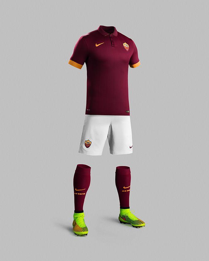 AS Roma unveils new home kit for 2014-15 season   Calcio, Maglie ...