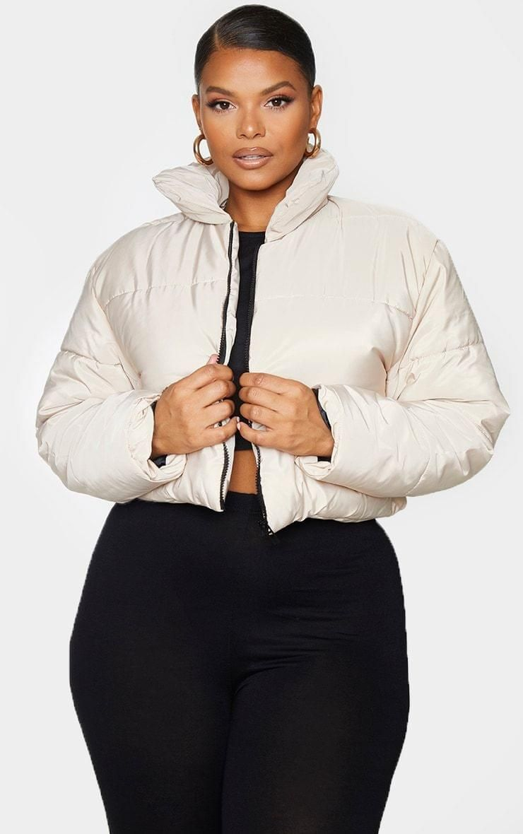 Plus Stone Cropped Puffer Jacket 32 Cropped Puffer Jacket Jackets Puffer Jackets [ 1180 x 740 Pixel ]