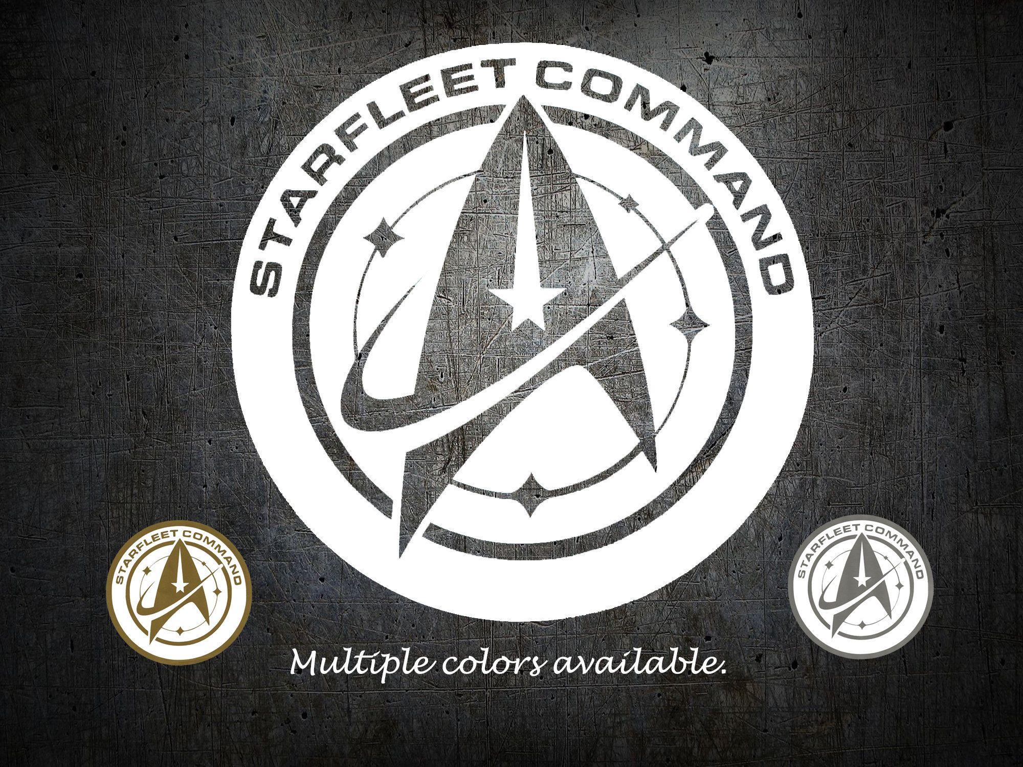 Vinyl Decal Star Trek Starfleet Command shield / logo