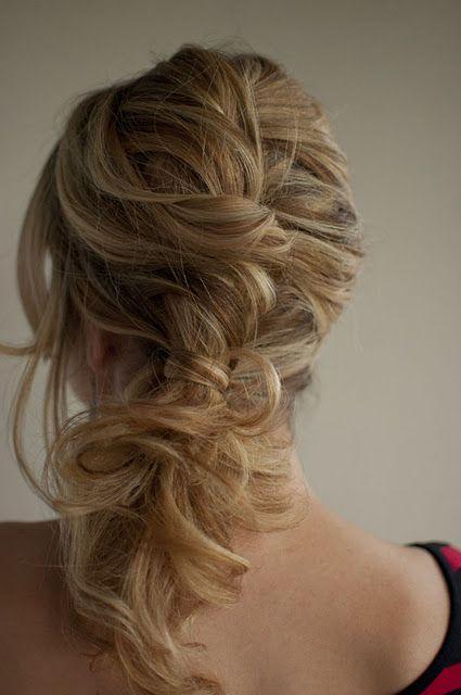 my hair at jennas wedding? I think yes!