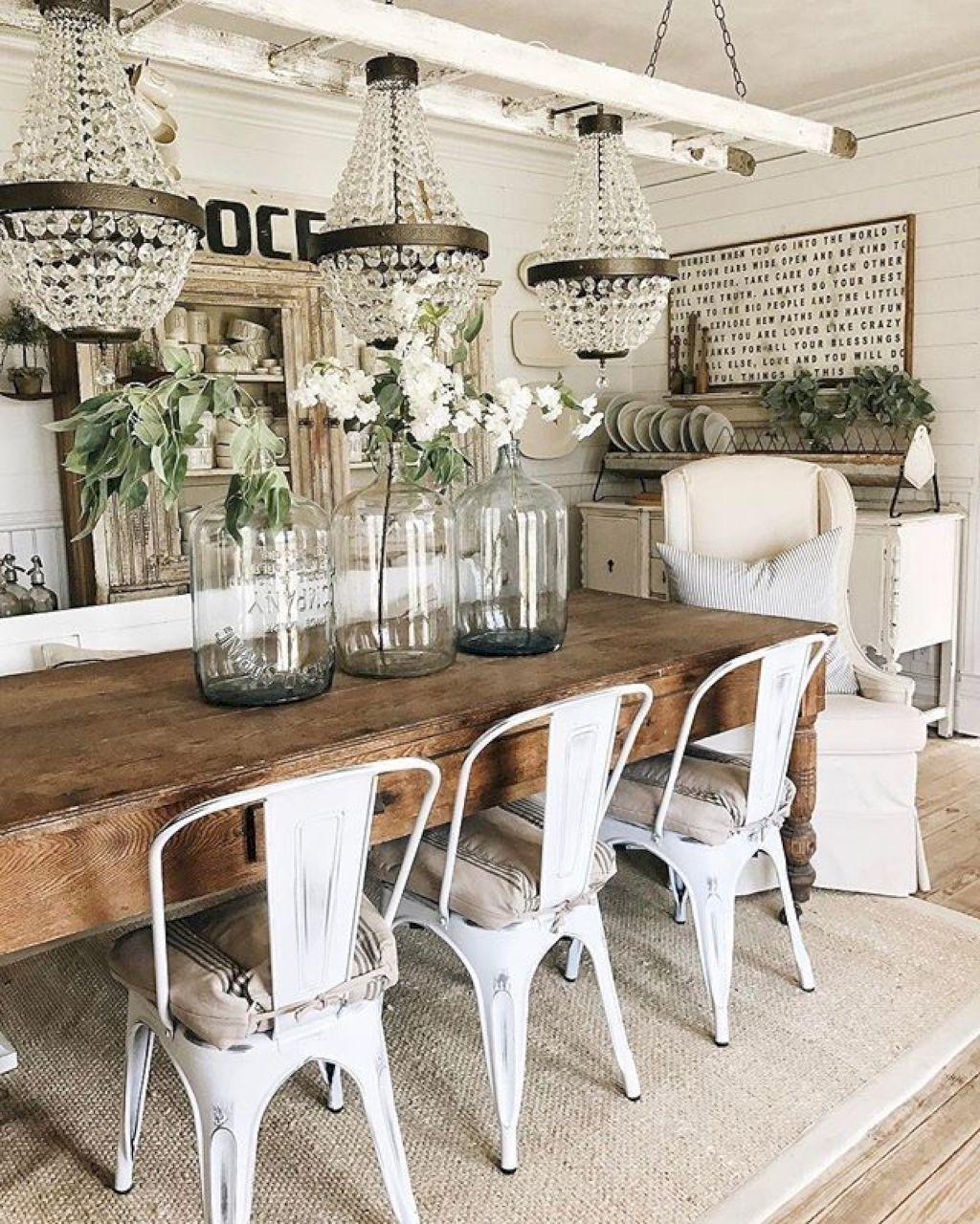 Awesome 54 Modern Farmhouse Dining Room Decor