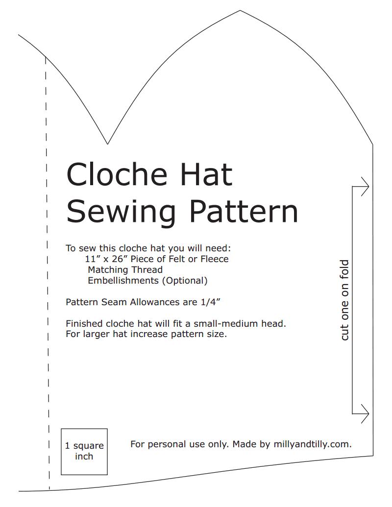 cloche hat sewing pattern.pdf - Google Drive | Downton abbey ...