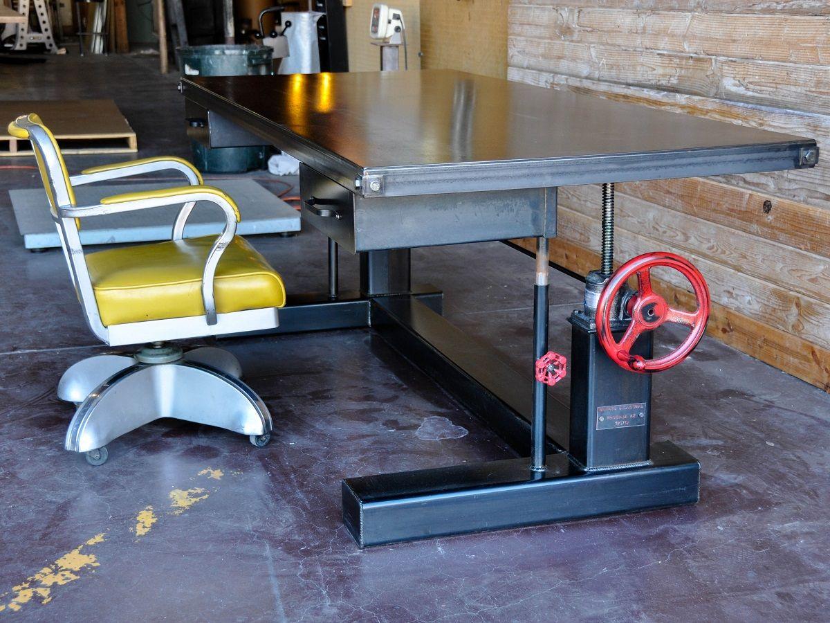 steele crank a furniture inspiration desk garage office rh pinterest ca