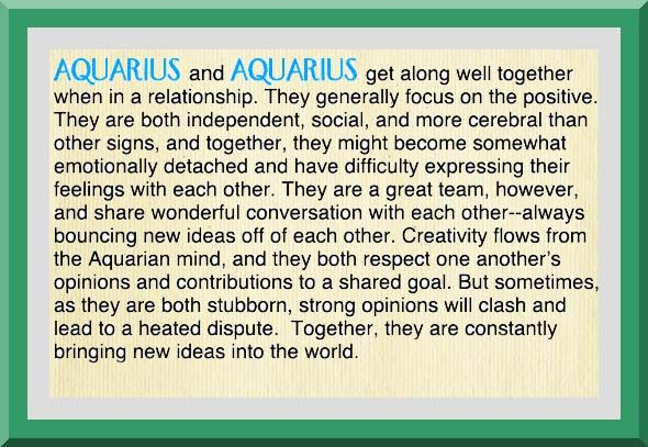 Aquarius love match compatibility