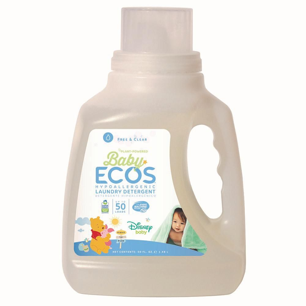 Ecos 50 Oz Disney Baby Free And Clear Liquid Laundry Detergent