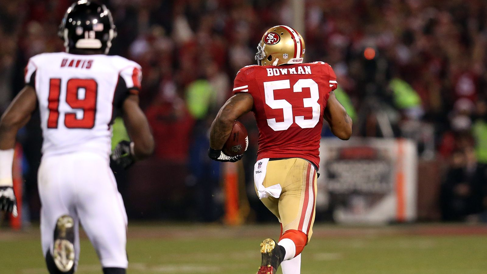 49ers Navorro Bowman Epic Finish Picture Wallpaper Nfl Football 49ers Navorro Bowman 49ers