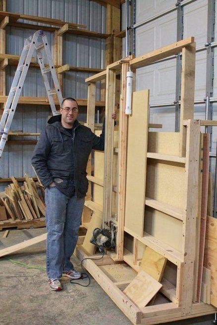 Shop Built Panel Saw Basic Panel Saw Lumber Cart By