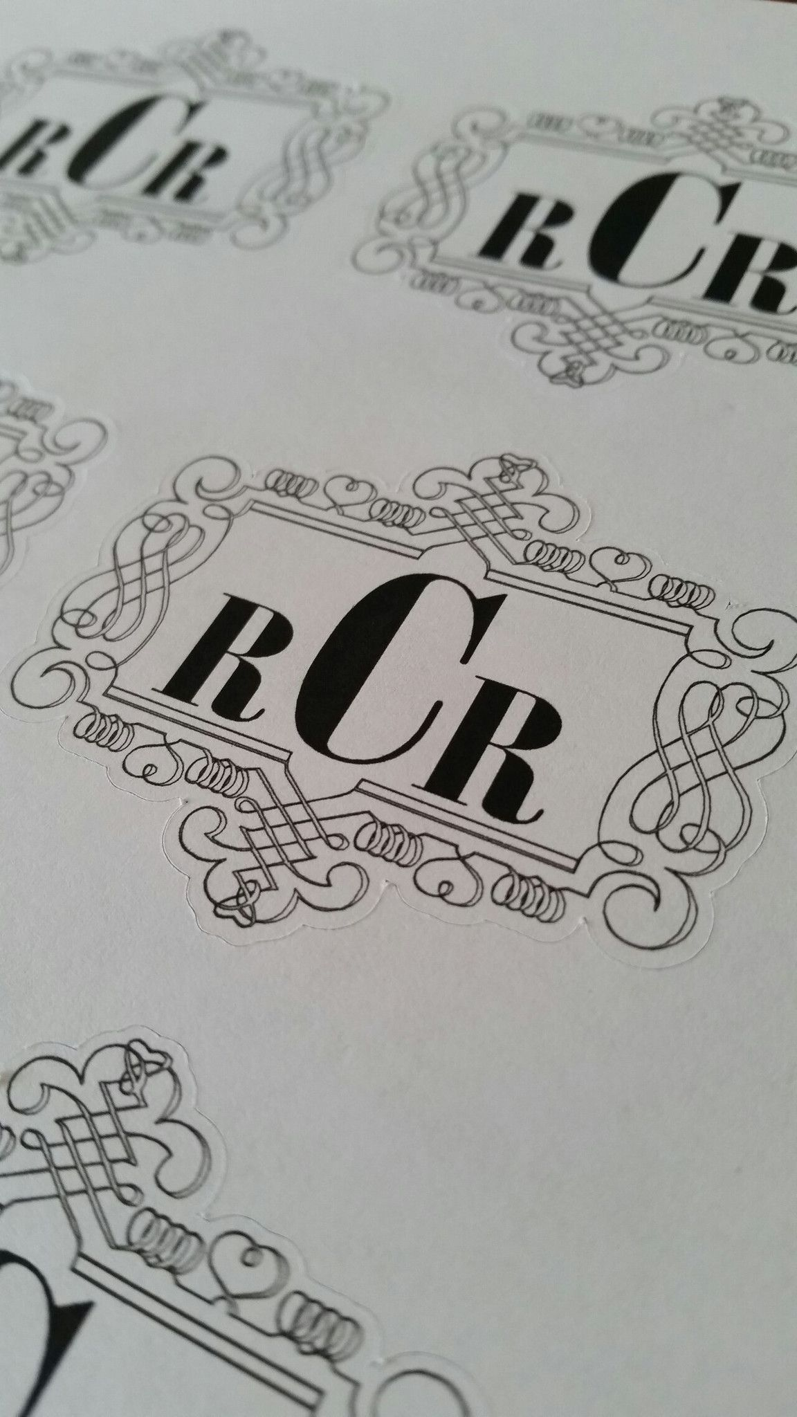 Custom Monogram Stickers perfect for wedding
