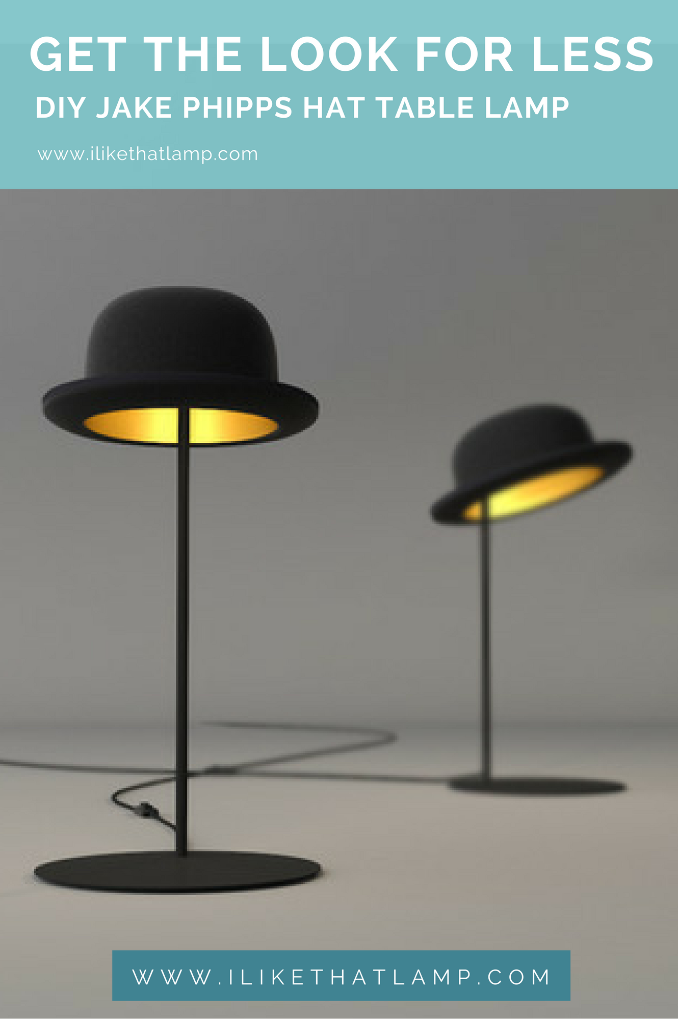 get the look for less diy bowler hat table lamp diy tutorials by rh pinterest com