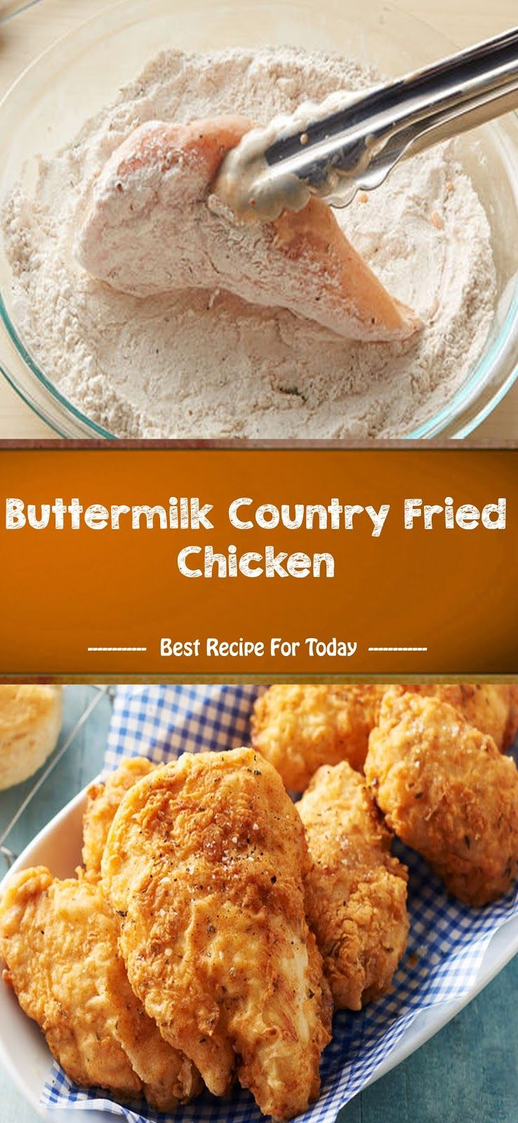 Buttermilk Country Fried Chicken In 2020 Country Fried Chicken Fried Chicken Recipes Recipes