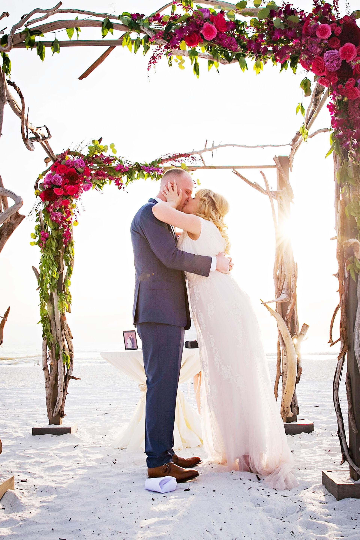 small beach wedding ceremony ideas%0A Romantic Marco Beach Wedding   Marco Island   FL