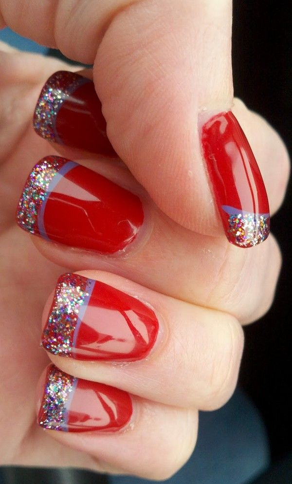 Christmas holiday nail designs 2016 christmas holiday french manicure christmas nail designs hello readers for todays inspiration we wanna share magnificent french nail art design idea with red and green prinsesfo Image collections