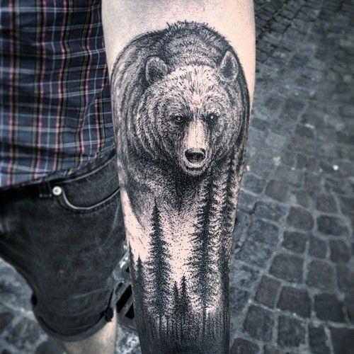 Tatuaje Osos Diseños Tatuajes Tatuaje Montañas Y Tatuaje Maori
