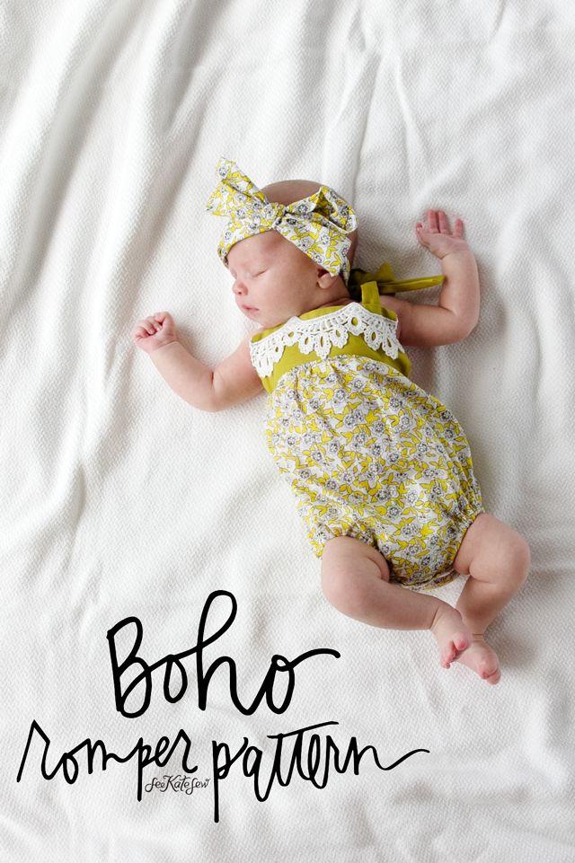 boho baby romper pattern | Sewing | Pinterest | Sewing, Baby romper ...
