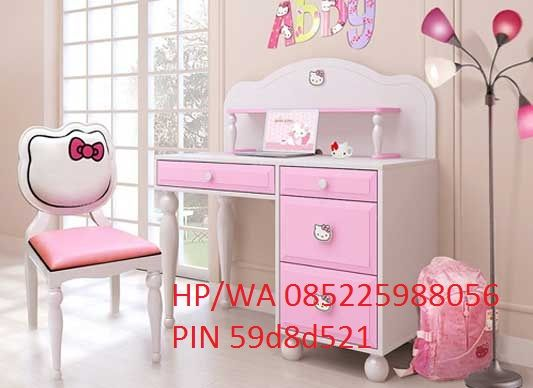 meja belajar anak hello kitty terbaru atau meja belajar karakter hello kitty mempu stuff to. Black Bedroom Furniture Sets. Home Design Ideas