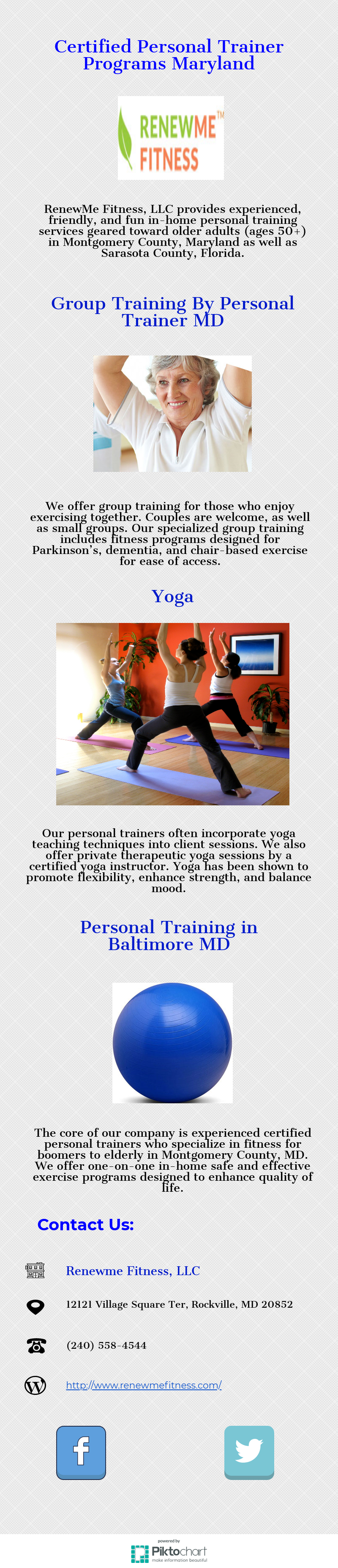 Renewme Fitness Llc Provides Experienced Friendly And Fun In Home