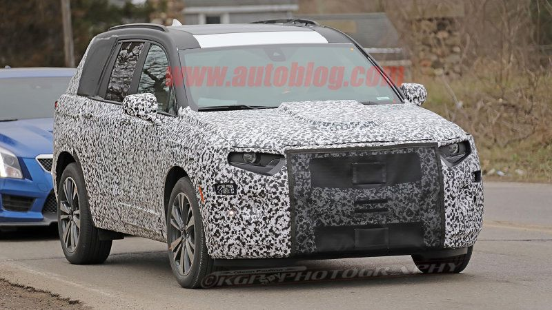 cadillac xt6 three row crossover spied hours after de nysschen rh pinterest com