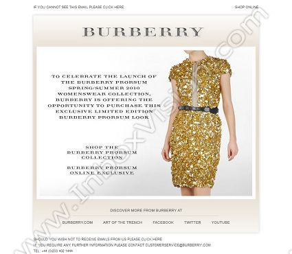 74708a4d99fd9 Company  Burberry Ltd. Subject  Introducing the Burberry Prorsum Womenswear  Spring Summer 2010collection