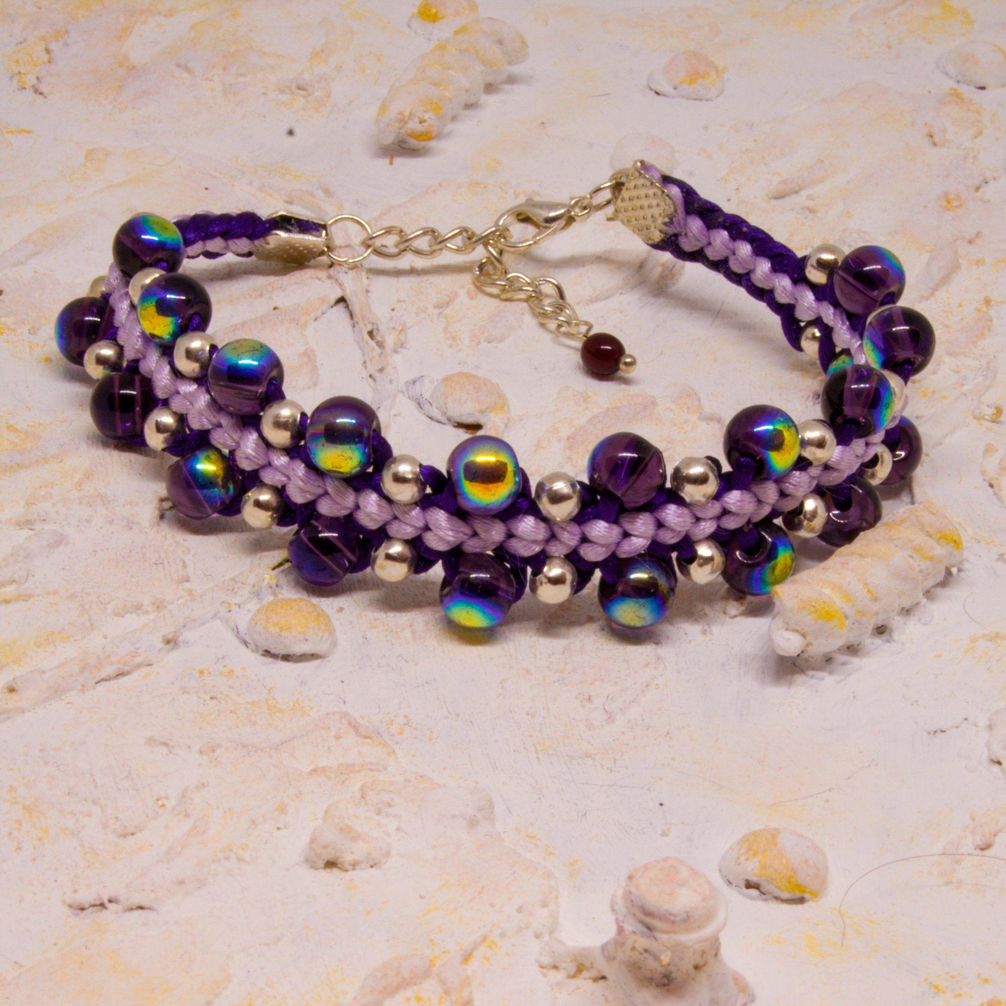 Kumihimo Bracelet Beaded Kumihimo Bracelet Kumihimo Jewellery Multi Coloured Bracelet Ladies Jewellery Friendship gift Handmade gift