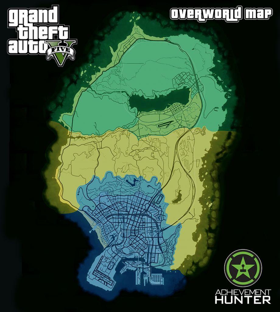 Secret Places Gta 5 Ps4: Achievement Hunter Clickable GTA 5 Map