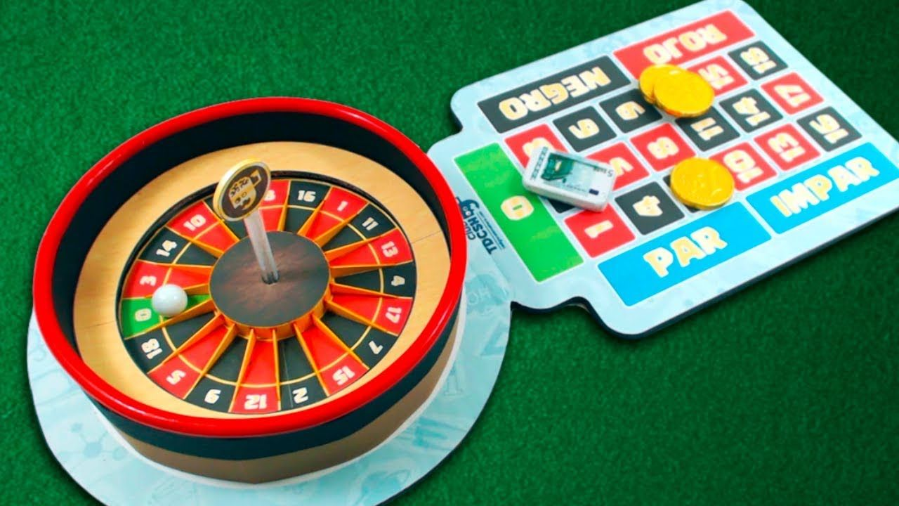 How to make mini casino roulette game from cardboard at
