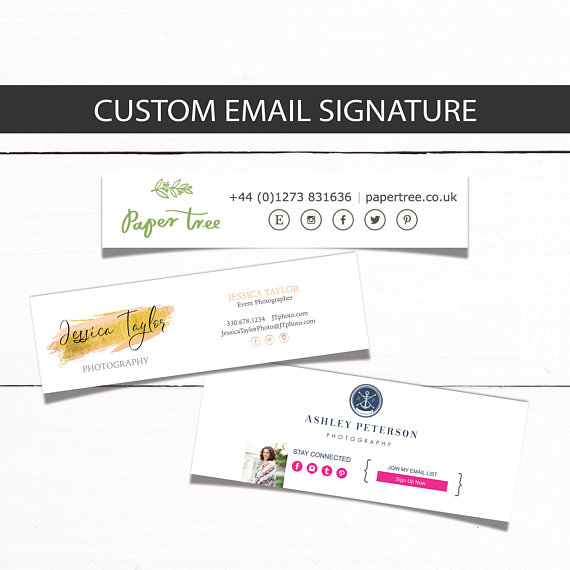 Email Signature Footer template - Custom Email signature for your