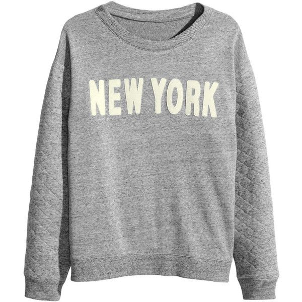 H&M Sweatshirt with appliqué ($11) ❤ liked on Polyvore