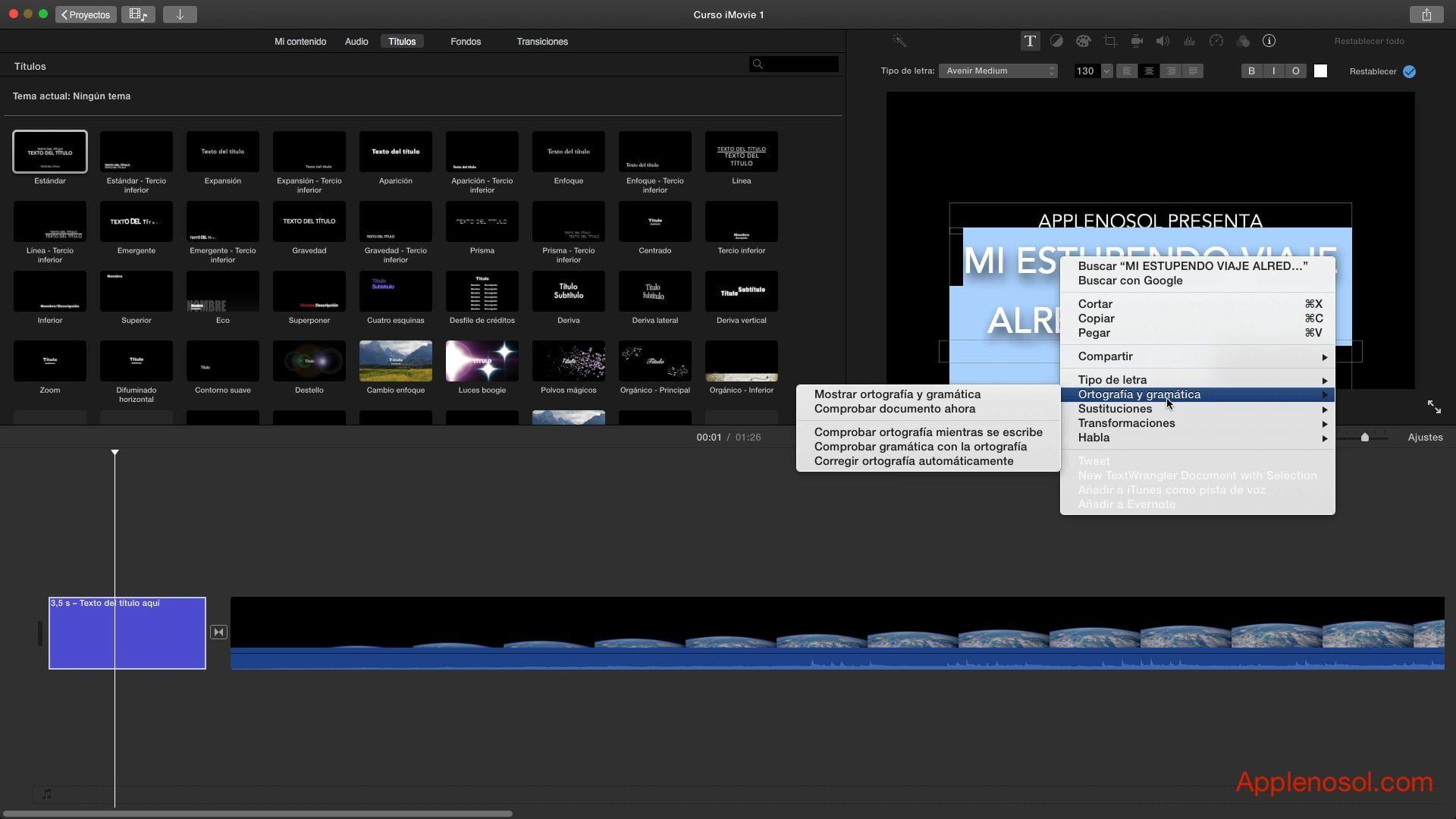 Curso iMovie #4. Imágenes y Volumen | Applenosol.com Podcast Diario ...