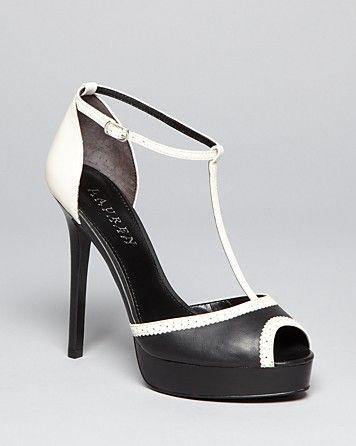 d5c381353e5 Lauren Ralph Lauren Peep Toe Ankle Strap Platform Pumps - Dallas ...