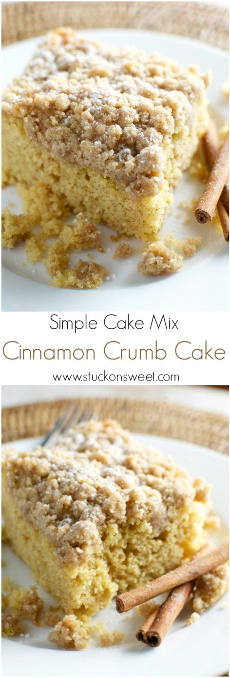 Cinnamon Crumb Cake - Stuck On Sweet